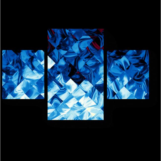 Модульная картина Иллюзорная мозаика