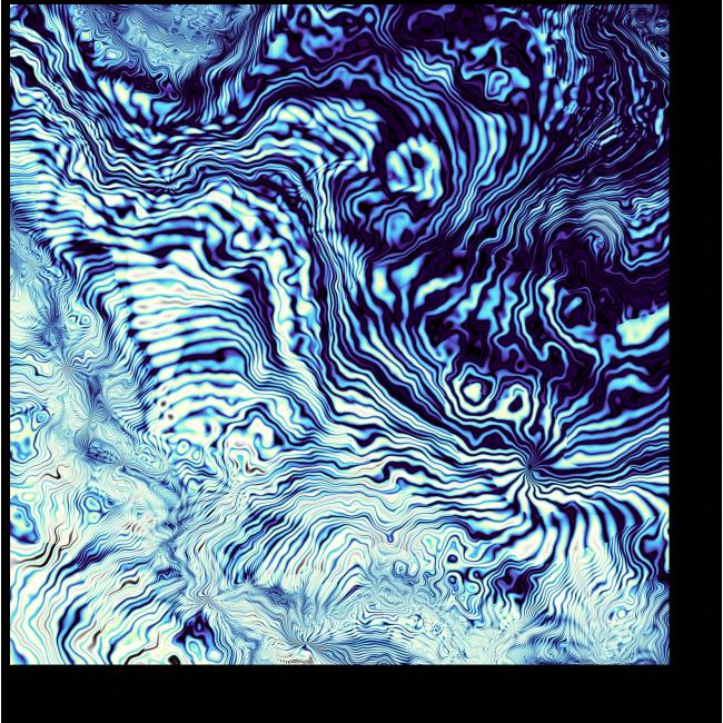 Модульная картина Волны и блики