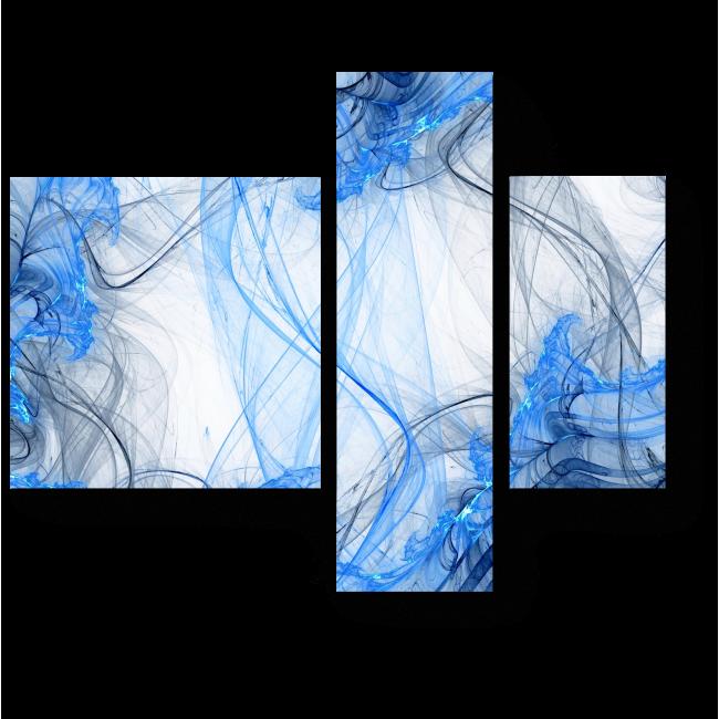 Модульная картина Всплески синего
