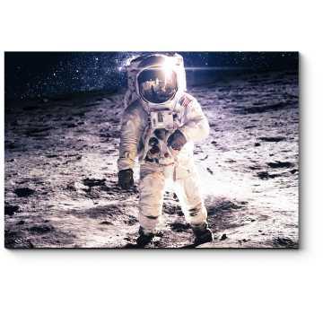 Модульная картина Шаги по Луне