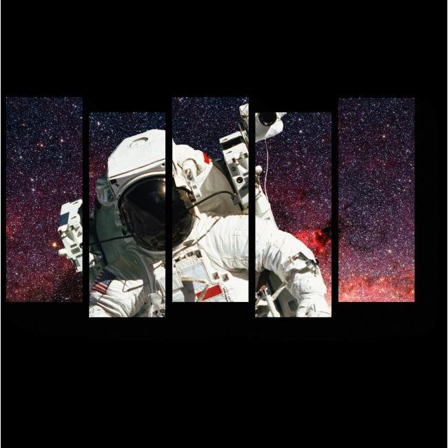 Модульная картина Открытый космос