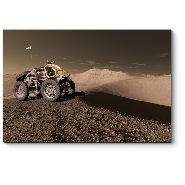 Модульная картина Марсоход
