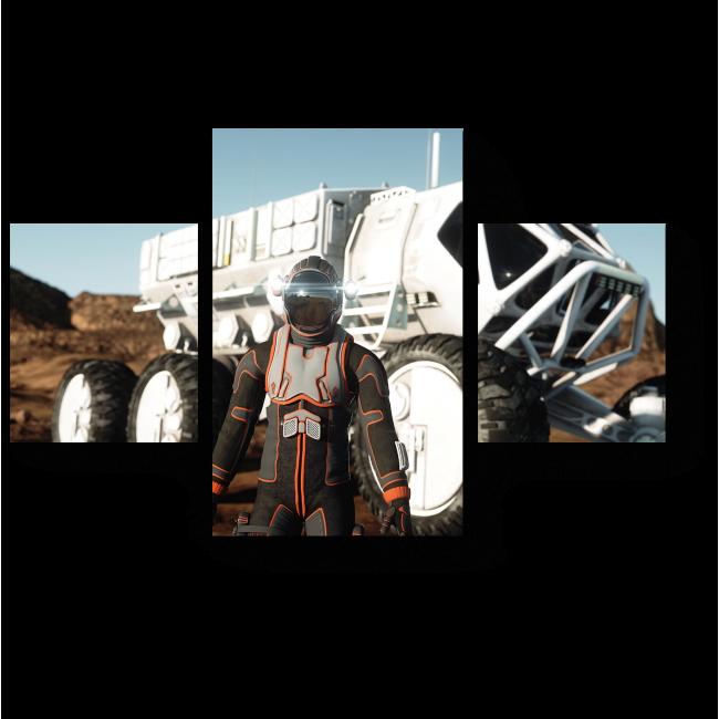 Модульная картина Житель колонии на Марсе