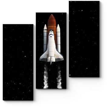 Модульная картина Взлёт космического шаттла