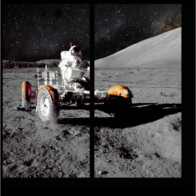 Модульная картина Прогулка по Луне