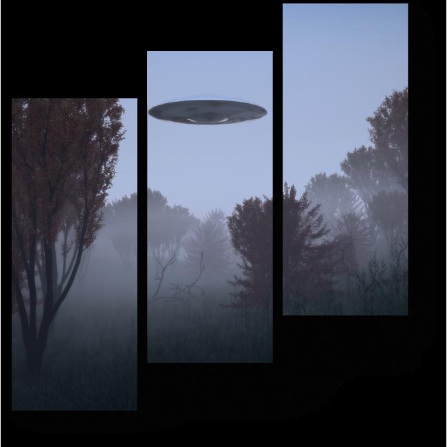 Модульная картина Таинственный туман