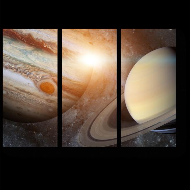 Модульная картина Кольца Сатурна