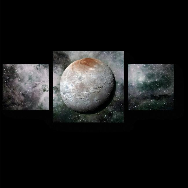 Модульная картина Спутник Плутона