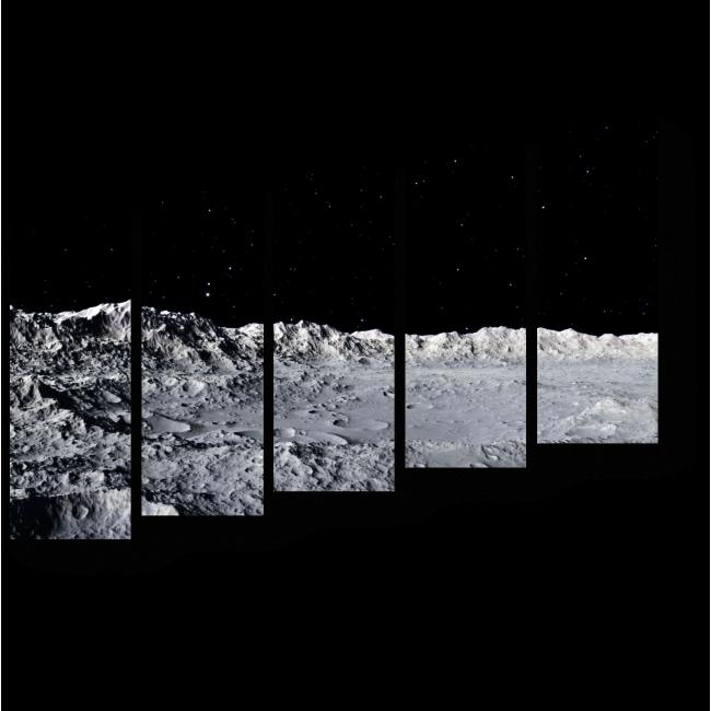 Модульная картина Пройтись по Луне