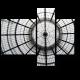 Круглый стеклянный потолок