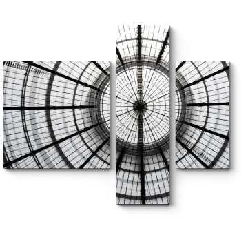 Модульная картина Круглый стеклянный потолок