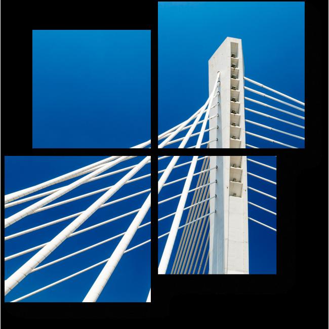 Модульная картина Белоснежный мост