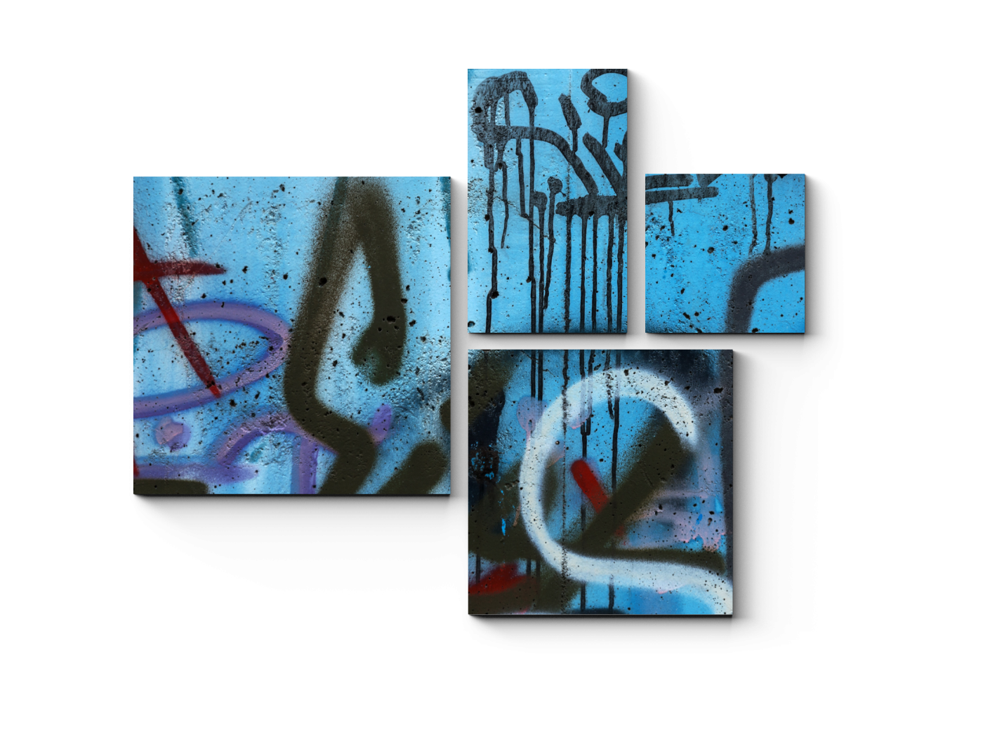 Модульная картина Искусство граффити (72x60) фото