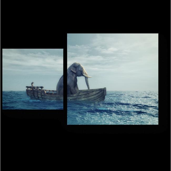 Модульная картина Долгое плавание