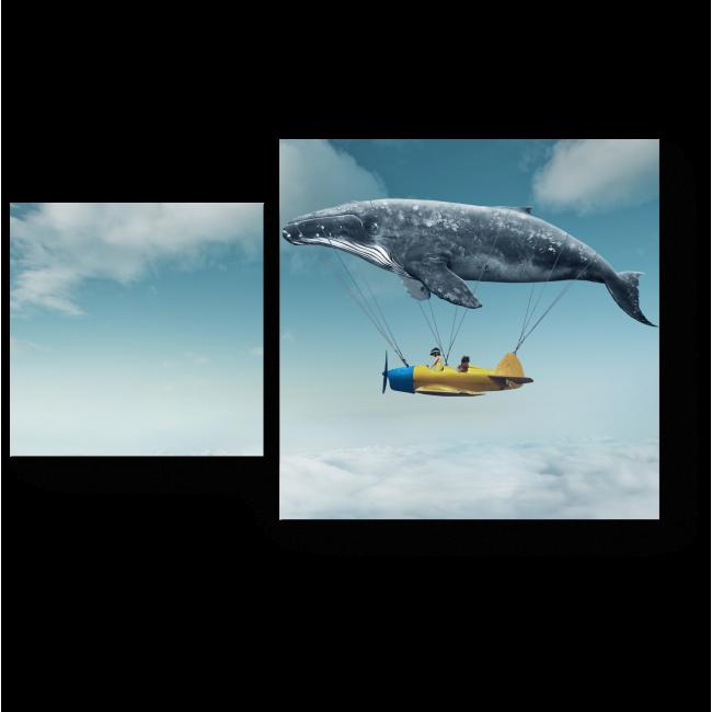 Модульная картина Над облаками много интересного