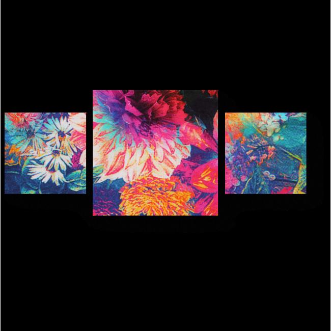 Модульная картина Цветочное полотно