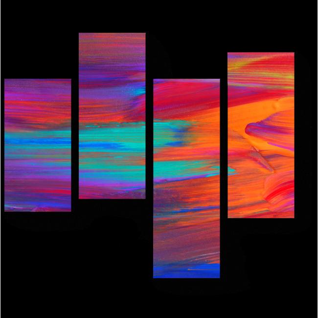 Модульная картина Энергия цветов