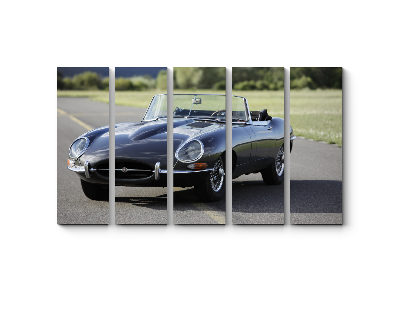 Модульная картина Ретро кабриолет (90x54) фото