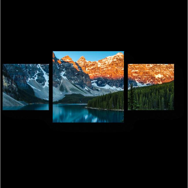 Модульная картина Лазурь неба и зеркало воды
