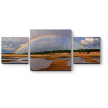 Модульная картина Сияние радуги