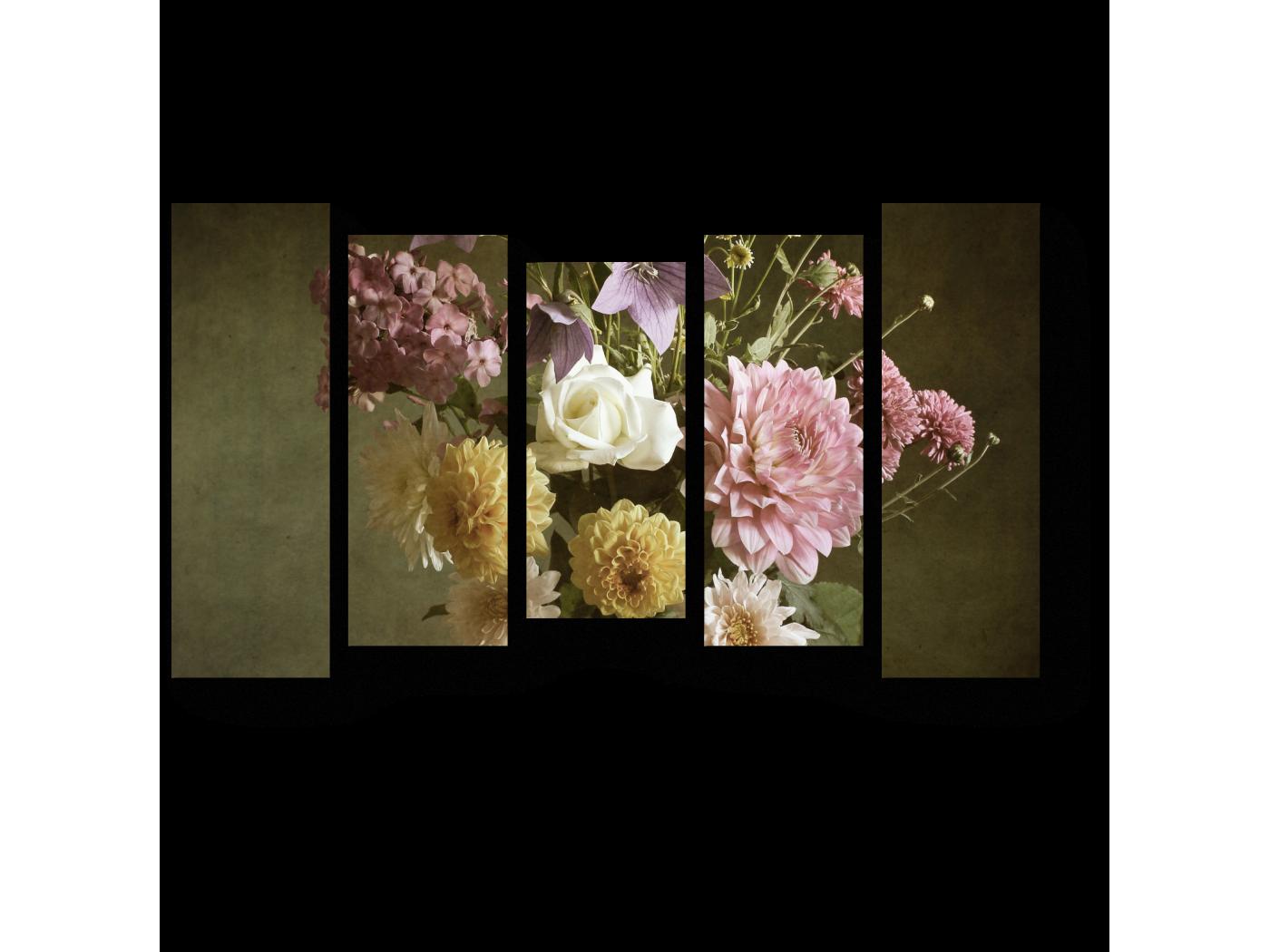 Модульная картина Ваза с георгинами (90x54) фото