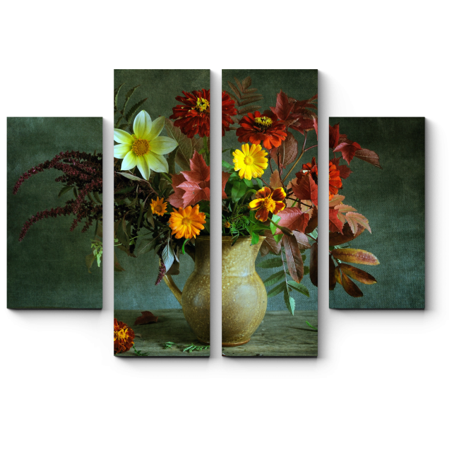 Модульная картина Букет в осенних тонах