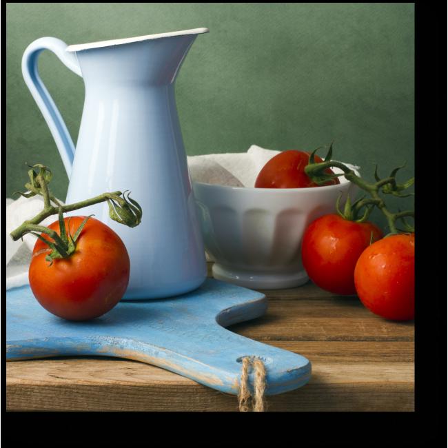 Модульная картина Спелые томаты на ветке