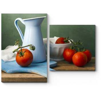 Спелые томаты на ветке