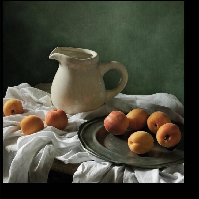 Модульная картина Натюрморт с сочными абрикосами