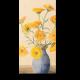 Акварельный букет из желтых цветов