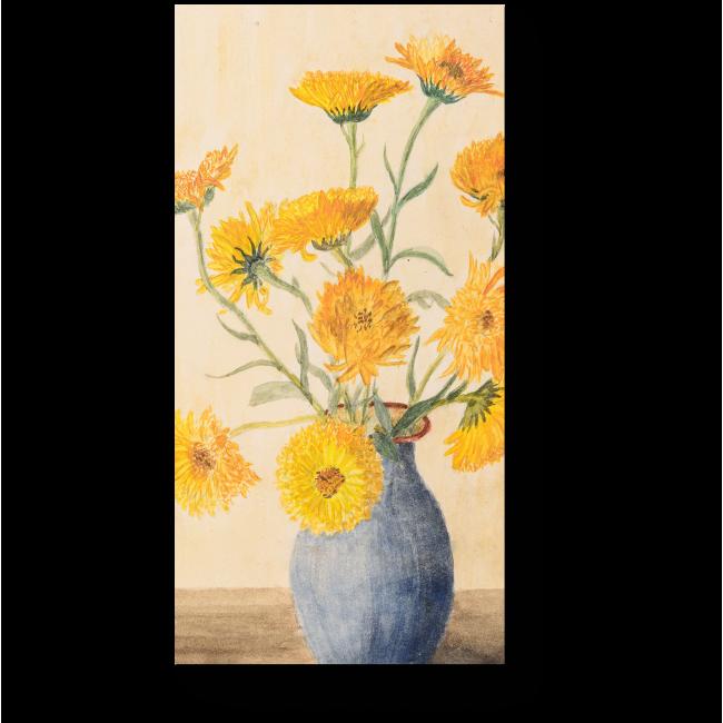 Модульная картина Акварельный букет из желтых цветов