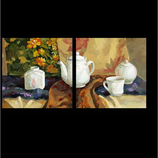 Модульная картина Натюрморт с драпировкой