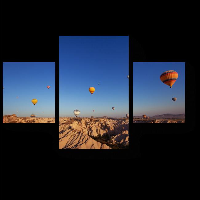 Модульная картина Полет над горами