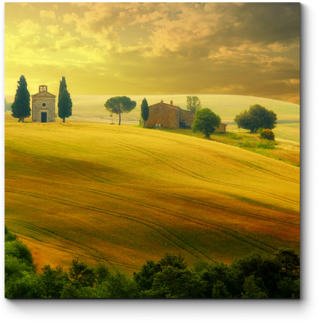 Модульная картина Летний закат в Тоскане