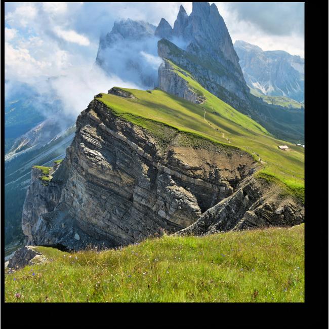 Модульная картина Итальянские Альпы