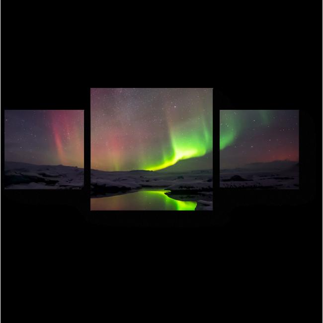 Модульная картина Прекрасное сияние Исландии