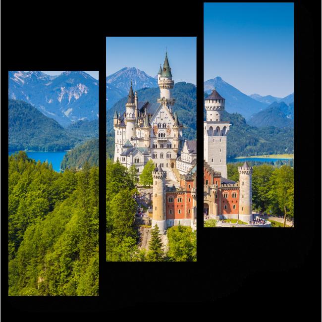 Модульная картина Сказочный замок Нойшванштайн, Германия
