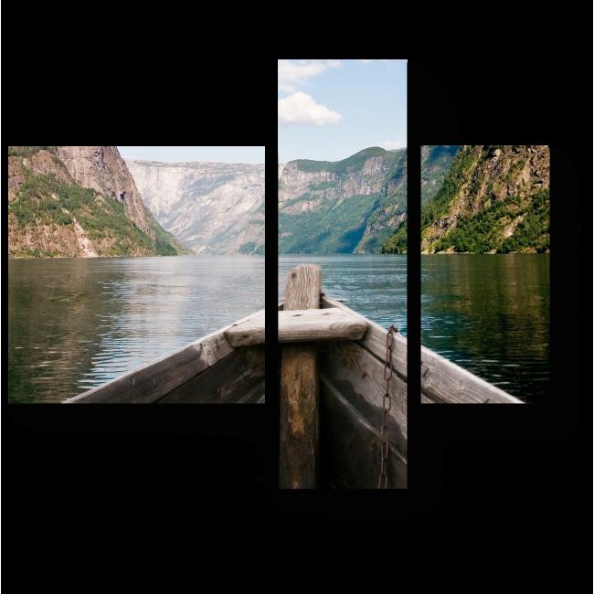 Модульная картина Захватывающий вид на норвежский фьорд