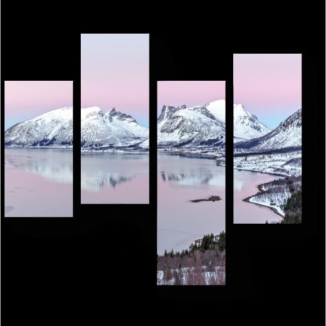Модульная картина Завораживающий фьорд на острове Сенья на закате