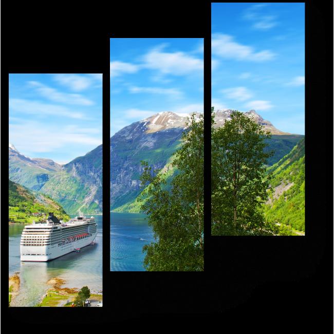 Модульная картина Круиз по Норвегии