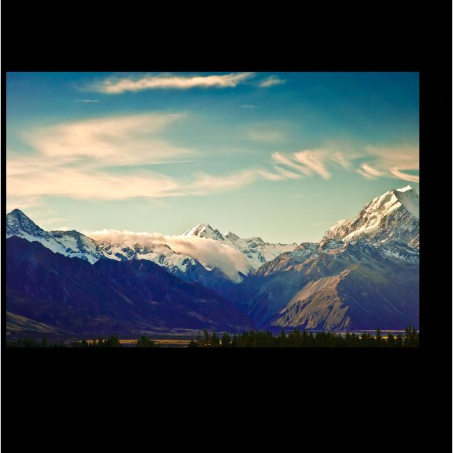 Модульная картина Горы Новой Зеландии