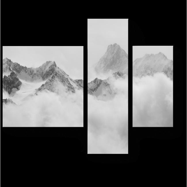 Модульная картина Облака в Альпах