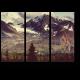 Горный пейзаж Аляски