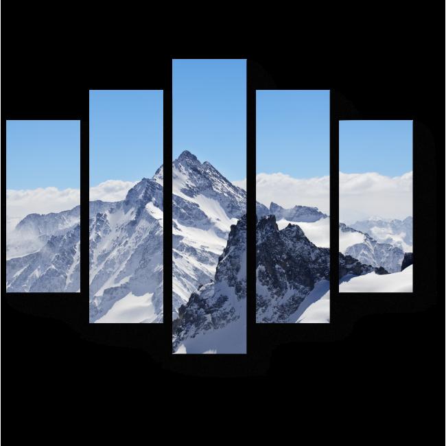 Модульная картина Зимний пейзаж на Маттерхорне