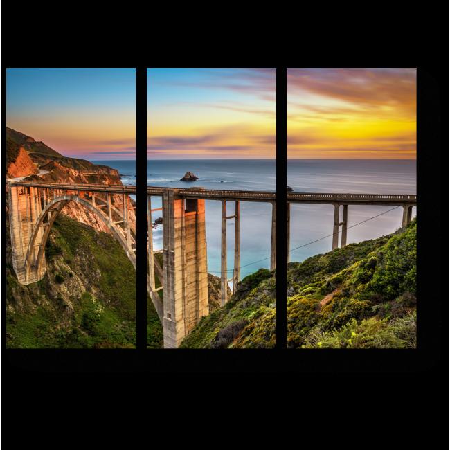 Модульная картина На закате в Калифорнии
