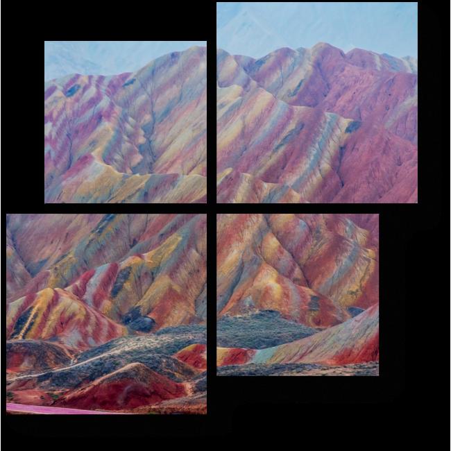 Модульная картина Радужные горы, Данься геопарк, Китай
