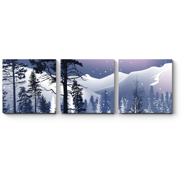 Модульная картина Зимняя сказка