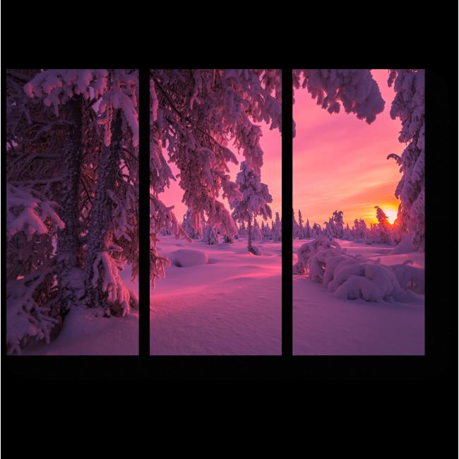 Модульная картина Пурпурный снег