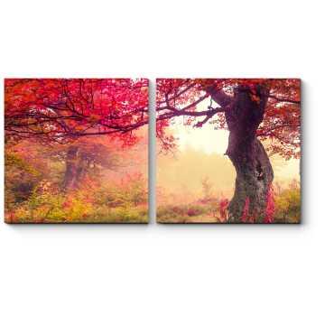 Магический розовый лес