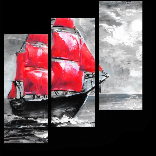 Модульная картина Алые паруса